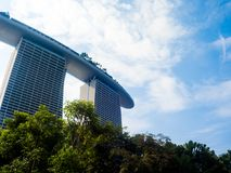 Marina Bay Sands with blue sky background, SINGAPORE Stock Photo