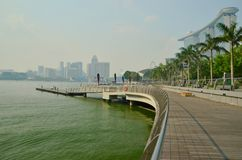 Marina Bay Sands Boardwalk Stockfotos