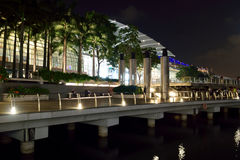 Marina bay Sands Boardwalk. At the front of marina bay sand Royalty Free Stock Images