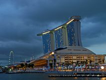 Marina Bay Sands Casino. Ideal for travel magazine/brochures to promote Singapore's tourism industry Stock Photo