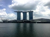 Marina Bay Sands in Clouds Stock Photos