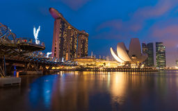 The Marina Bay Sands complex Stock Images