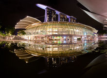The Marina Bay Sands complex with reflection Stock Photography