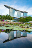 The Marina Bay Sands complex during sunset time in Singapore Royalty Free Stock Images