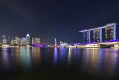 Marina Bay Sands et le musée d'ArtScience à Singapour Images libres de droits