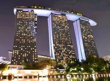 Marina Bay Sands Evening Shot imágenes de archivo libres de regalías