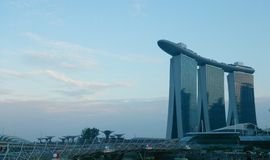 Marina Bay Sands and Garden by the Bay Royalty Free Stock Photos
