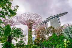 Marina Bay Sands and Gardens by the Stock Photos