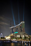 Marina Bay Sands during Grand Prix Royalty Free Stock Photo