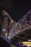 Marina Bay Sands and The Helix Bridge royalty free stock photography