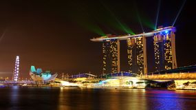 Marina Bay Sands Hotel 02 Arkivfoto