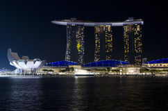 Marina Bay Sands Hotel and Art Science Museum Stock Photography