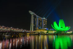 Marina Bay Sands Hotel and Arts Museum in Singapore Stock Photo