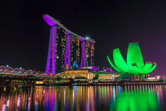 Marina Bay Sands Hotel and Arts Museum in Singapore Stock Photos
