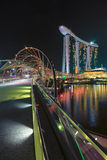 Marina Bay Sands Hotel and Arts Museum in Singapore Royalty Free Stock Image