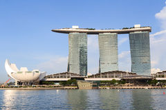 Marina Bay Sands hotel and ArtScience museum, Singapore Royalty Free Stock Photography