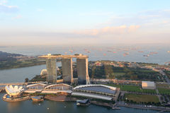 Marina Bay Sands hotel and ArtScience museum in Singapore Royalty Free Stock Images
