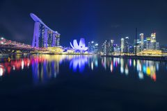 Marina Bay Sands Hotel and ArtScience Museum Stock Images