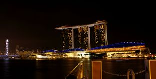 Marina Bay Sands Hotel 03 Royalty Free Stock Images