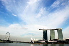 MARINA BAY SANDS HOTEL AND CASINO Stock Image