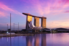 Marina Bay Sands Hotel & Casino Royalty Free Stock Images