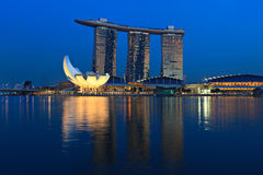 Marina Bay Sands hotel and casino, Singapore Stock Photos