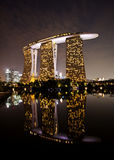 Marina bay sands hotel in dusk Royalty Free Stock Photography
