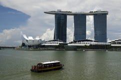 Marina Bay Sands Hotel et Art Science Museum Photos stock