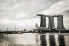 Marina Bay Sands Hotel et le musée d'ArtScience Photos stock