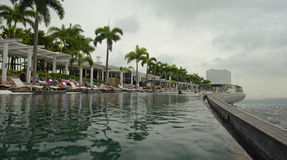 Marina Bay sands hotel infinity pool Stock Images