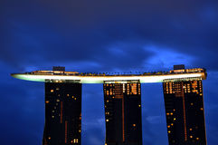 Marina Bay Sands Hotel and Integrated Resort Royalty Free Stock Photo