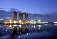 Marina Bay Sands Hotel and Integrated Resort Royalty Free Stock Image