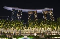 Marina Bay Sands Hotel och semesterort Royaltyfri Bild