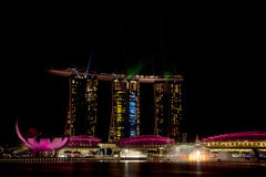 Marina Bay Sands hotel in Singapore. Royalty Free Stock Photos