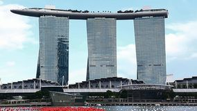 The Marina Bay Sands hotel stock video footage