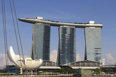 Marina Bay Sands Hotel in Singapore Royalty Free Stock Image