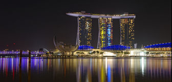 Marina Bay Sands hotel Royalty Free Stock Photos