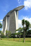 Marina bay sands hotel. And sky park on the top of this building Royalty Free Stock Photography