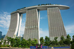 Marina Bay Sands Hotel Tower Stock Images