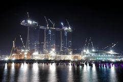 Marina Bay Sands Hotel, Under Construction Stock Image