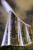 Marina Bay Sands hotellsikt Singapore 15 December 2017 Arkivfoton