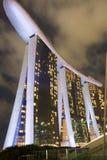 Marina Bay Sands hotellsikt Singapore 15 December 2017 Royaltyfri Bild