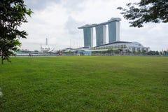 Marina Bay Sands hotellsikt Singapore 15 December 2017 Fotografering för Bildbyråer
