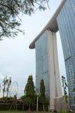 Marina Bay Sands hotellsikt Singapore 15 December 2017 Royaltyfria Foton