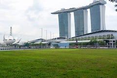 Marina Bay Sands-hotelmening Singapore 15 December 2017 Stock Foto
