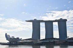Marina Bay Sands i morgonen Arkivbild