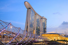 Marina Bay Sands is an integrated resort Royalty Free Stock Images