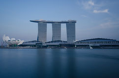 Marina Bay Sands Integrated Resort and Waterfront stock image