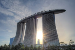 Marina Bay Sands Integrated Resort and Waterfront Royalty Free Stock Photo
