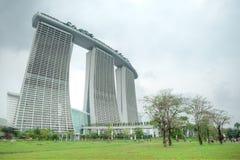 Marina Bay Sands Integrated Resort y costa Fotografía de archivo